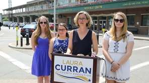 Democratic Nassau County executive candidate Laura Curran called