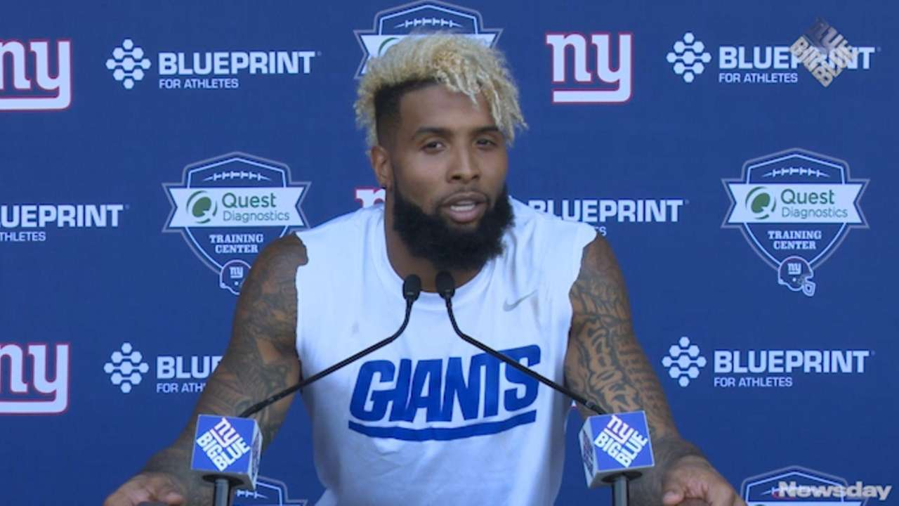 Giants wide receiver Odell Beckham Jr. met with
