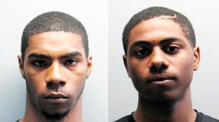 Nyshaun Murray, 22, left, and Kquamel Jones, 18,