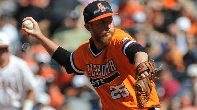 The Mets picked Oklahoma State pitcher Trey Cobb