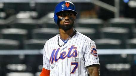 Jose Reyes of the Mets after a game