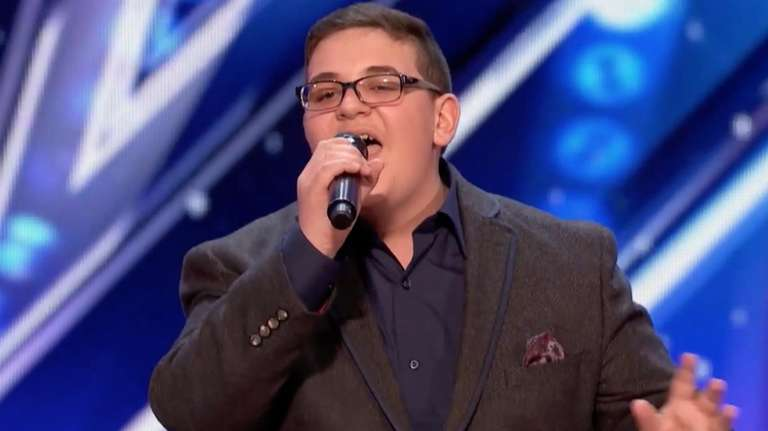 Christian Guardino, a 16-year-old from Patchogue, sang the