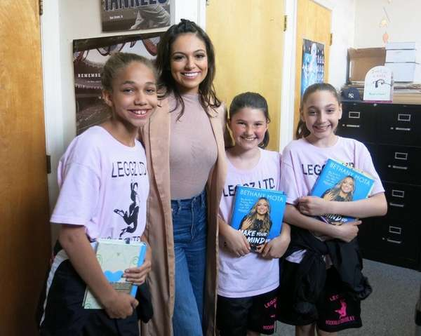 Bethany Mota with, from left, Christina Aiello, Sara