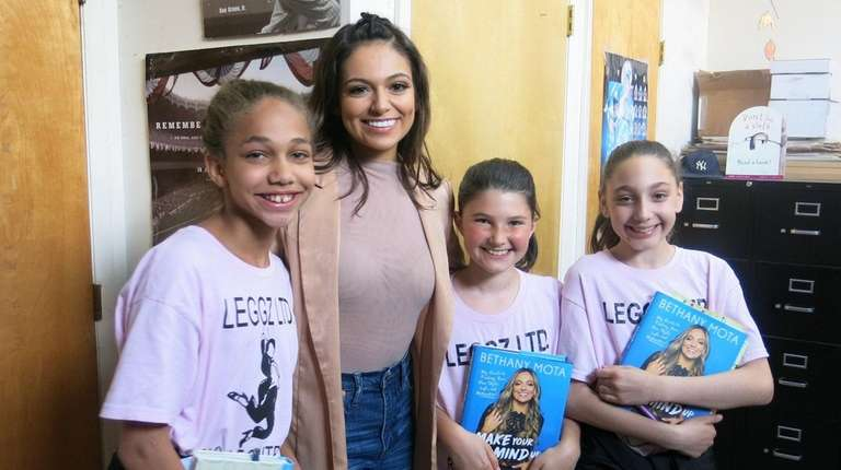 We interviewed youtube star bethany mota newsday bethany mota with from left christina aiello sara m4hsunfo