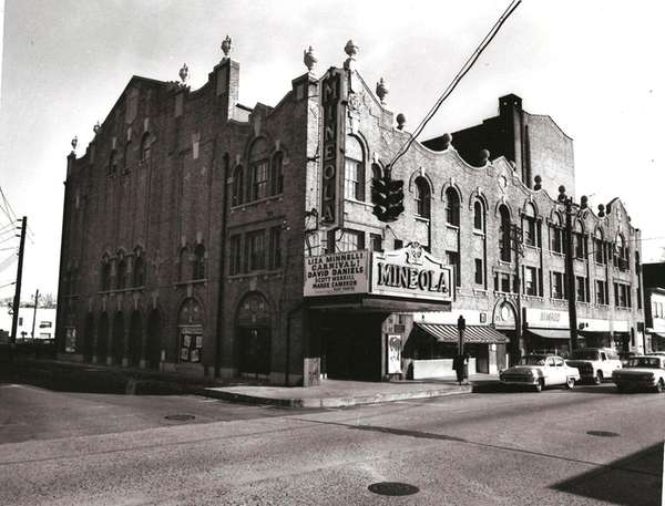 The Mineola Theater on Mineola Boulevard and First
