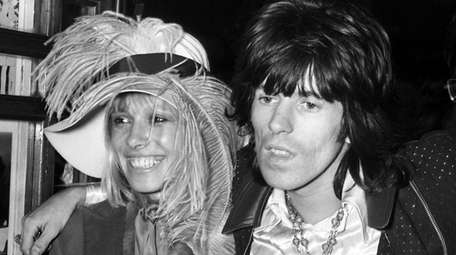 Keith Richards and Anita Pallenberg in London in