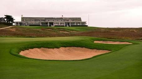 A view of the Shinnecock Hills clubhouse from