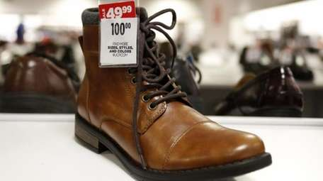 A pair of men's boots on sale at