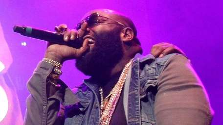 Rick Ross performs during Powerhouse 2015 at Barclays