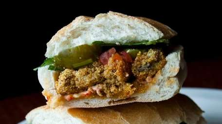 The oyster po'boy at Mara's Homemade in Syosset.