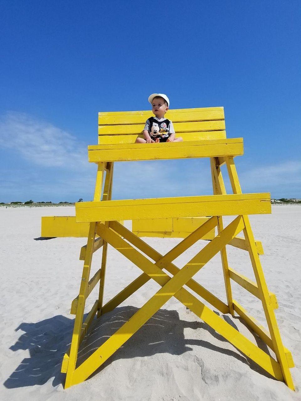 Nathan lifeguarding at Nickerson Beach June 15th 2017.