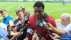 On Thursday June 15, 2017, Giants offensive lineman Ereck Flowers