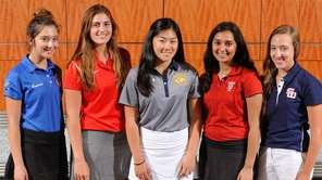 The Newsday All-Long Island girls golf team gathers