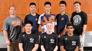 The Newsday All-Long Island boys badminton team gathers