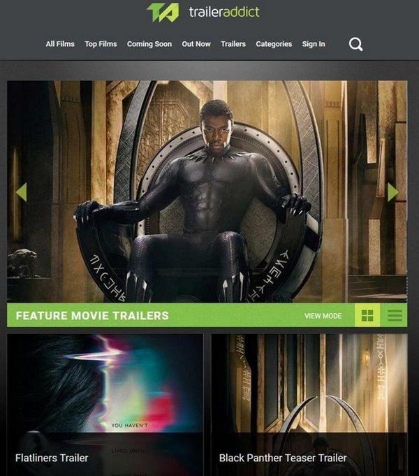 Trailer Addict offers film fanatics a database of