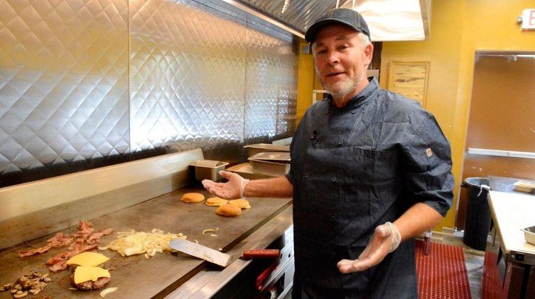 Owner John Robertson at his new restaurant, Build