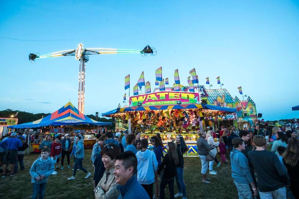 Carnival attractions at the Mattituck Lions Club Strawberry