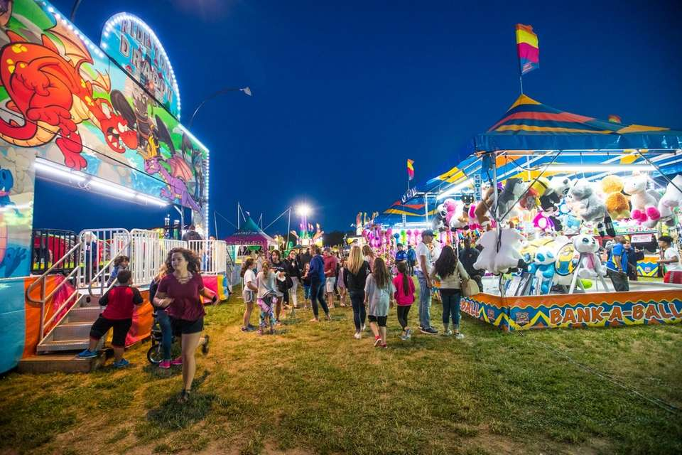 Carnival rides and games at the Mattituck Lions