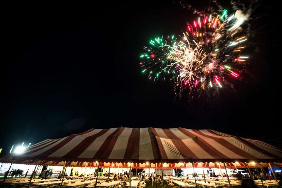 A display of fireworks the Mattituck Lions Club