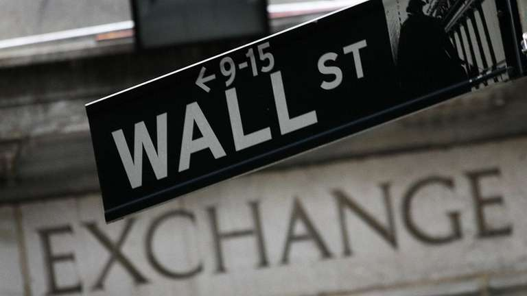 A Wall Street sign near the New York