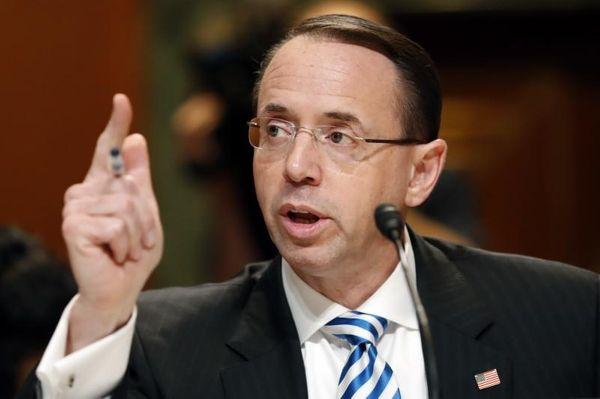 Deputy Attorney General Rod Rosenstein testifies on Capitol