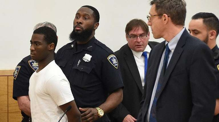 Justin Murrell, 15, of Brooklyn, appears in Brooklyn
