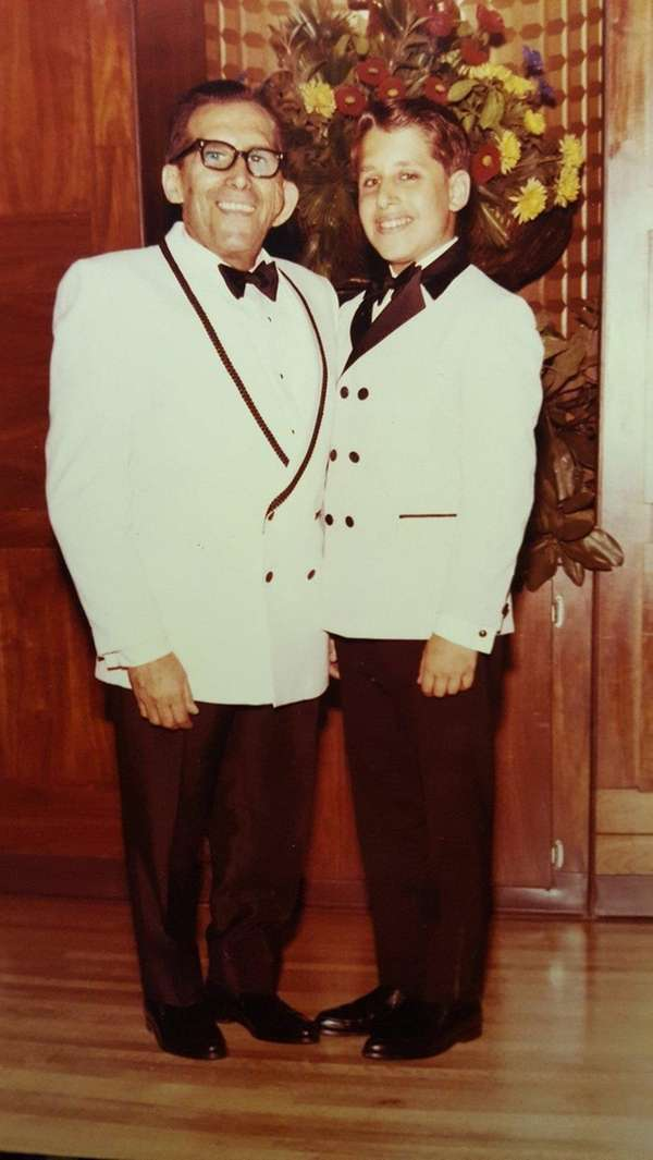 Writer Howard Lev with his father, David Lev,