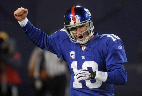 Giants quarterback Eli Manning is working to raise