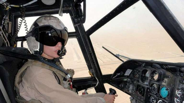 Moghbeli flies a helicopter out of Udairi Army