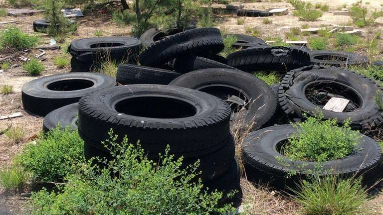 Tires were among the debris found on Suffolk