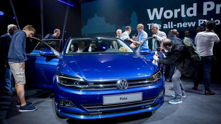 Visitors take a look at the new VW