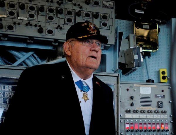 Retired Army Reserve Capt. Arthur J. Jackson tours