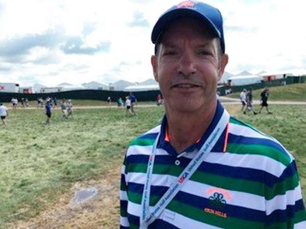 Vincent Cardullo of Farmingdale, US Open volunteer for