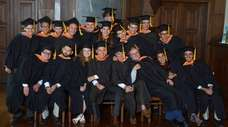 The Webb Institute graduating Class of 2017 during