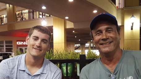 Mets pitcher Seth Lugo, left, and his dad,