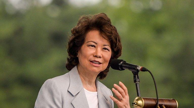 U.S. Transportation Secretary Elaine Chao speaks during the