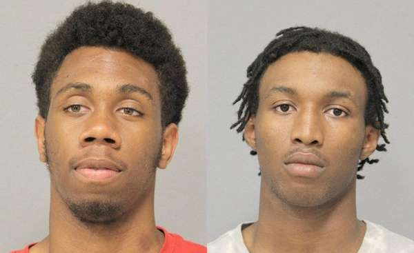 Jordan Jackson (left), charged with three counts of
