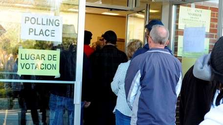 Large crowds gather to vote at John Wesley
