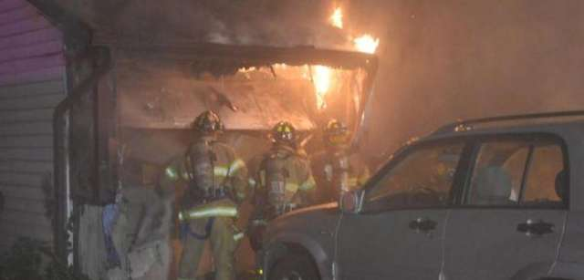 A fire inside a Bay Shore residence early