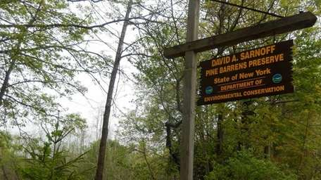 The Pine Barrens preserve features 2,700 acres of