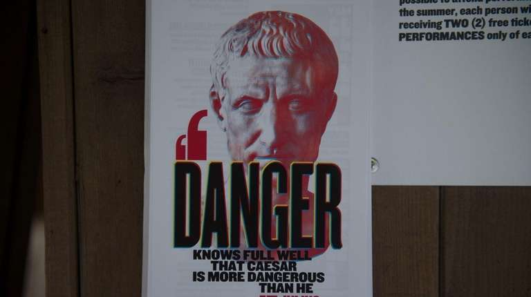 A sign promotes Public Theater's