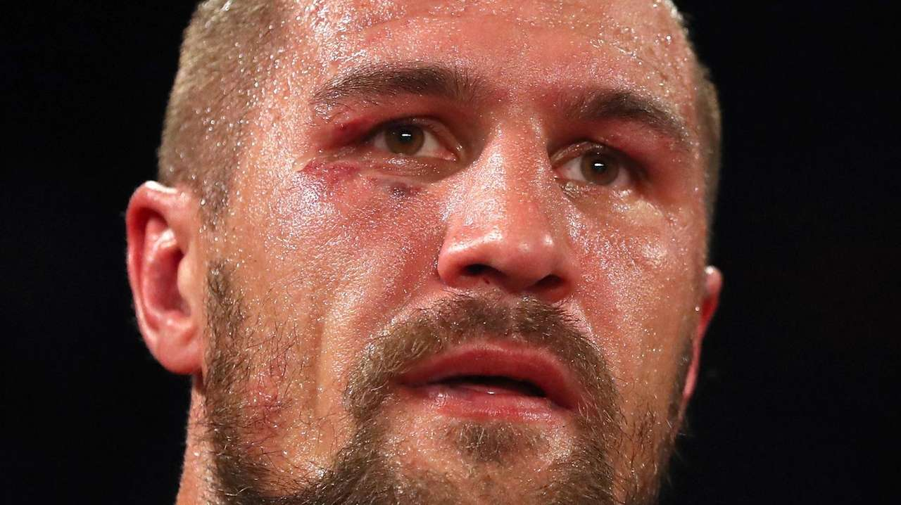 Sergey Kovalev looks on after being defeated by