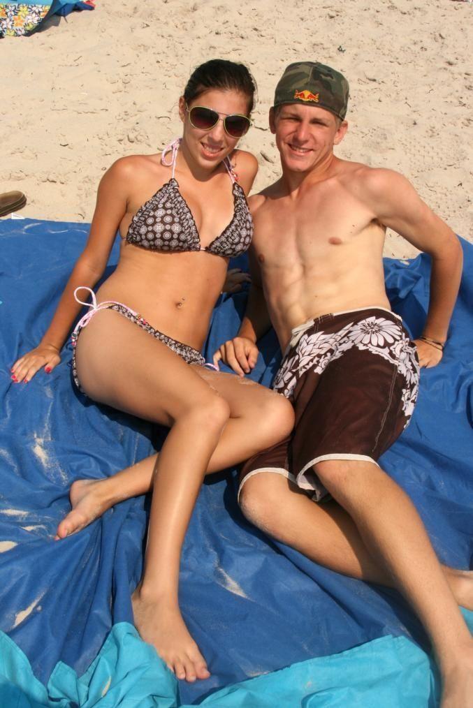 Marissa Kluber and Kris Miller at Cupsogue Beach