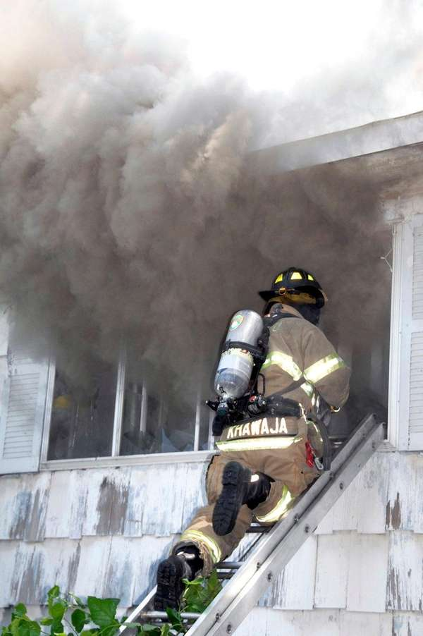 The Westbury Fire Department responded to a house