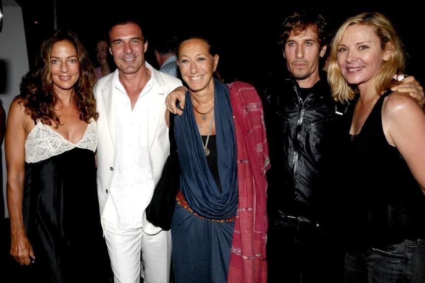 August 15- Bridgehampton:(l-r) Kelly Klein,Andre Balazs,Donna Karan,Steven Klein,