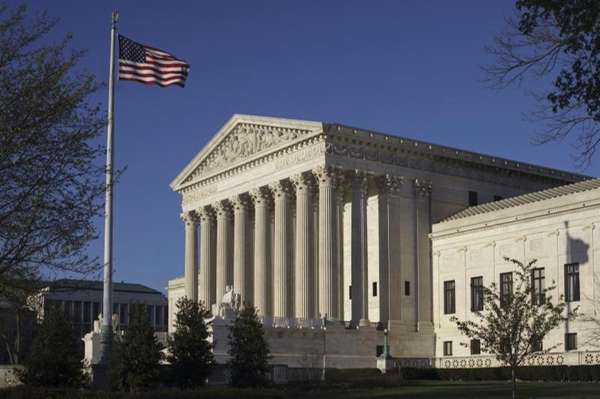 The Supreme Court Building is seen in Washington