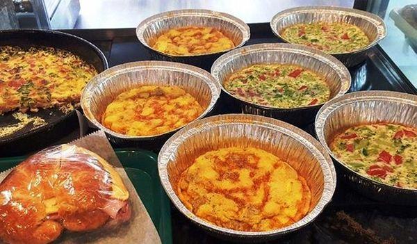 Rose & Joe's Italian Bakery serves savory frittatas,