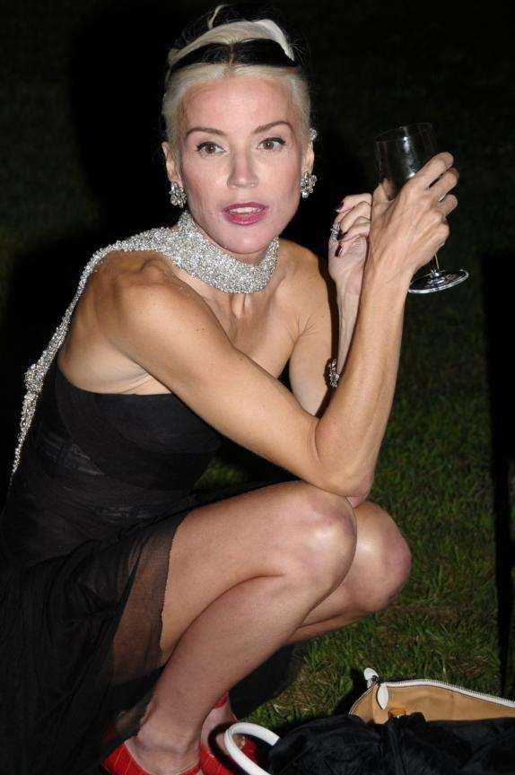 August 15- Bridgehampton: Daphne Guiness attends the Ellen's