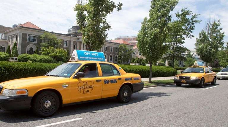 Nassau taxi drivers circle the Nassau County Executive