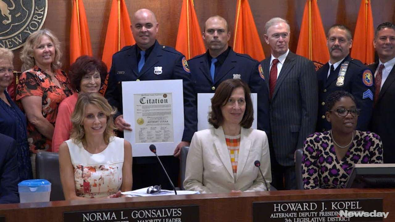 Two Nassau County cops were honored by the